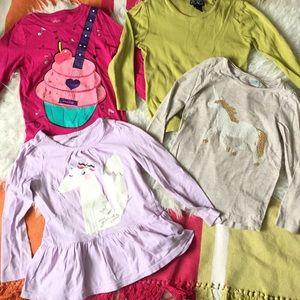 Lot Of 4 Tops Gymboree Crazy8 Children's Place 5/6